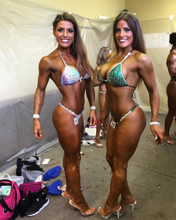 Jenny and Lucy West twins bikini Fitness
