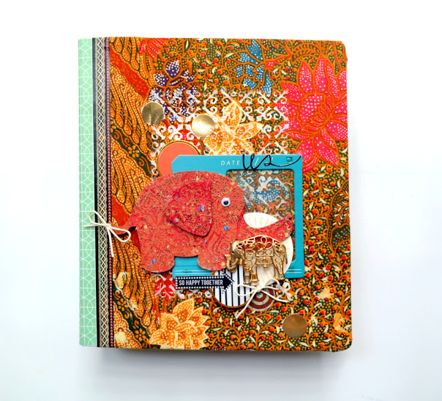 Sari Wrapped Elephant Journal by Dana Tatar for Tando Creative and Stampendous