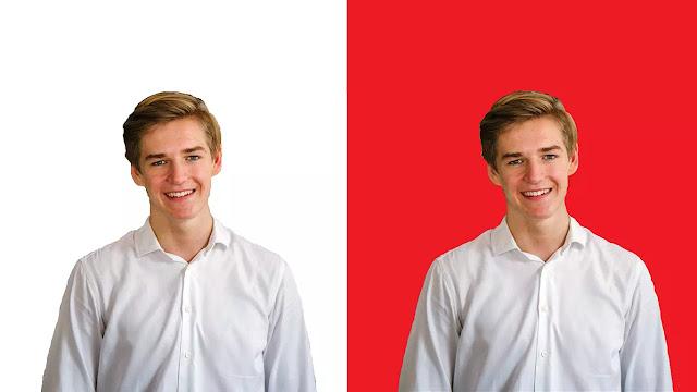 hasil tutorial mengganti background foto