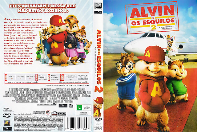Capa DVD Alvin e os Esquilos 2