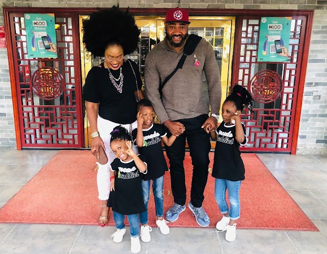 Singer Muma Gee And Her Ex Husband, Actor Prince Eke Step Out With Their Children