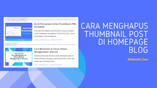 Cara Menghapus Thumbnail Post di Homepage Blog