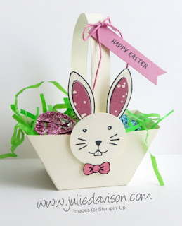 Stampin' Up! March 2017 Paper Pumpkin ~ Bunny Buddies ~ Window Box Thinlit Basket ~ www.juliedavison.com