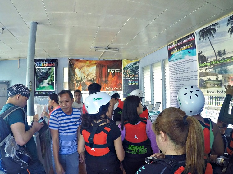 Canyoneering in South Cebu | Lining up to register
