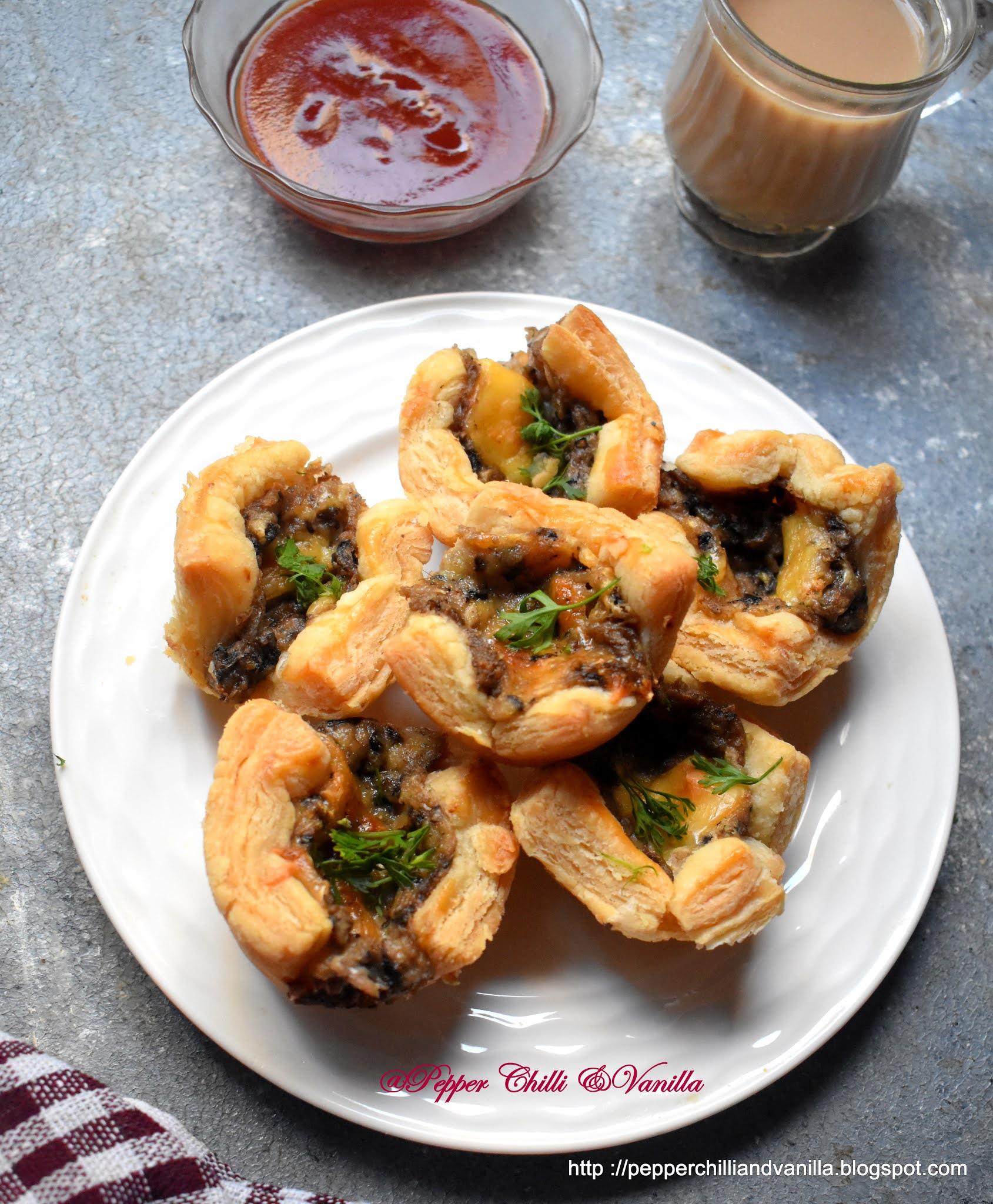 mushroom puff bites ,easy mushroom puff