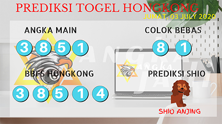 Prediksi Angka jadi Togel Hongkong HK Jumat 03 Juli 2020