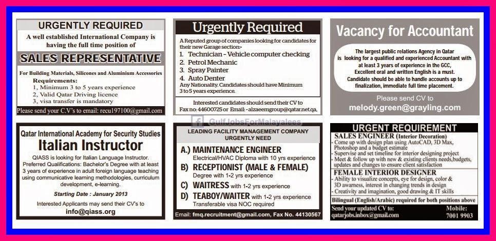 Job vacancy urgently required