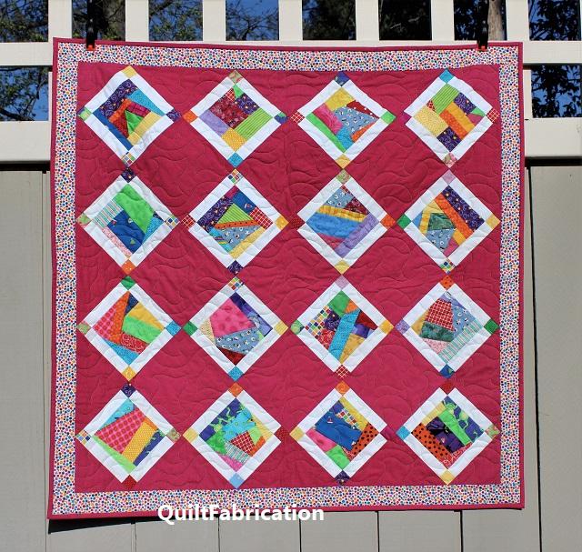 Crumb Jumble Pink baby quilt