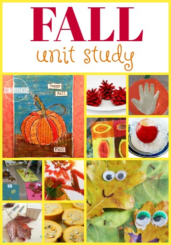 Fall Unit Study - help kids learn math, grammar, creative writing, alphabet letters, science, history, and art with this fun unit for kids of all ages (preschool, kindergarten, first grade, 2nd grade, 3rd grade, 4th grade, 5th grade, homeschool, fall themes)