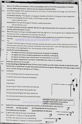 1st year physics chapter 3 short questions,exercise short questions,motion and force