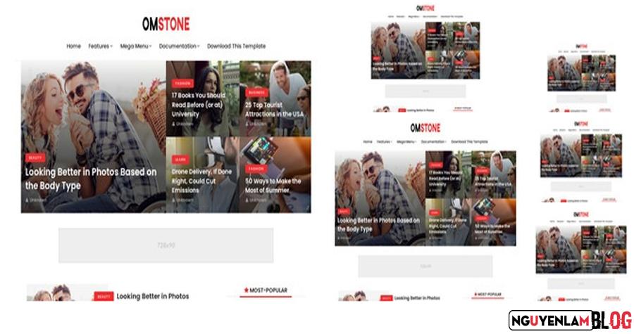 Om Stone Premium Version Blogger Template Free Download