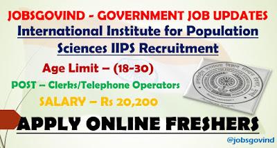 IIPS Recruitment 2021