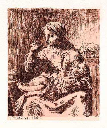 Жан Франсуа Милле - Каша. 1861