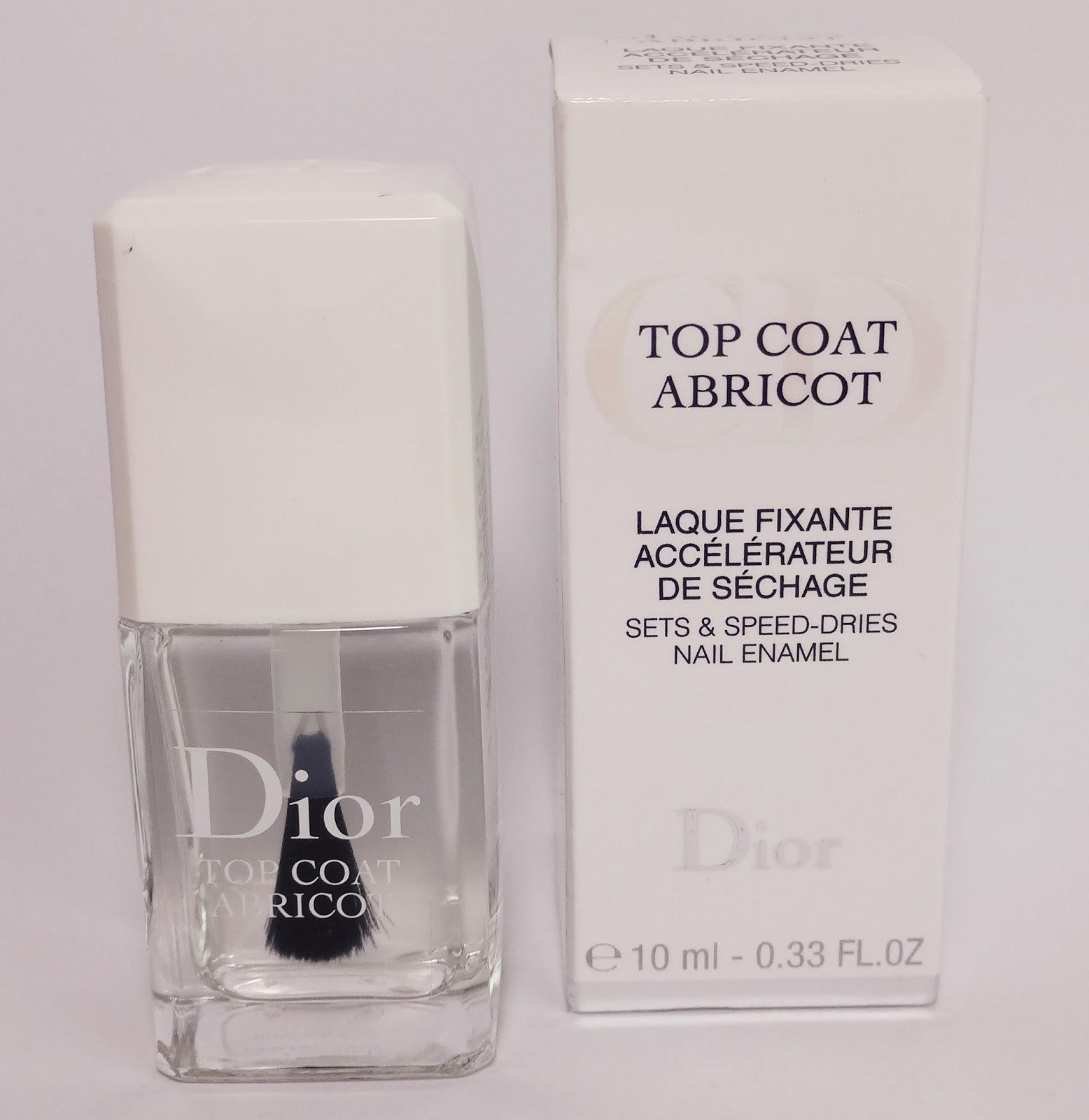 Dior - Top Coat Abricot Überlack farblos Pretty Clover Beautyblog