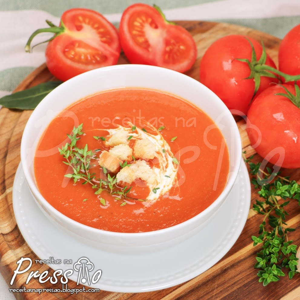 Sopa de Tomates na Pressão