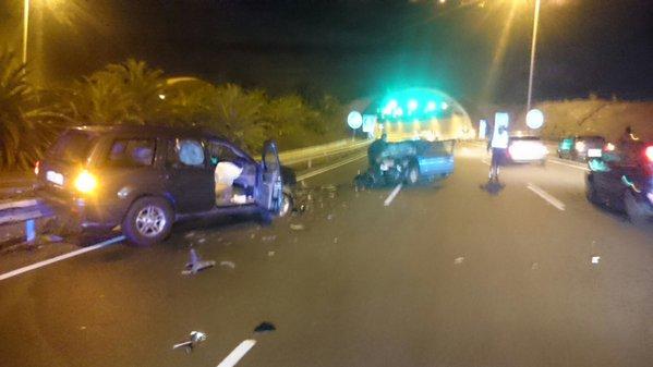 Mujer grave accidente tráfico subida Santa Brígida,   Gran Canaria