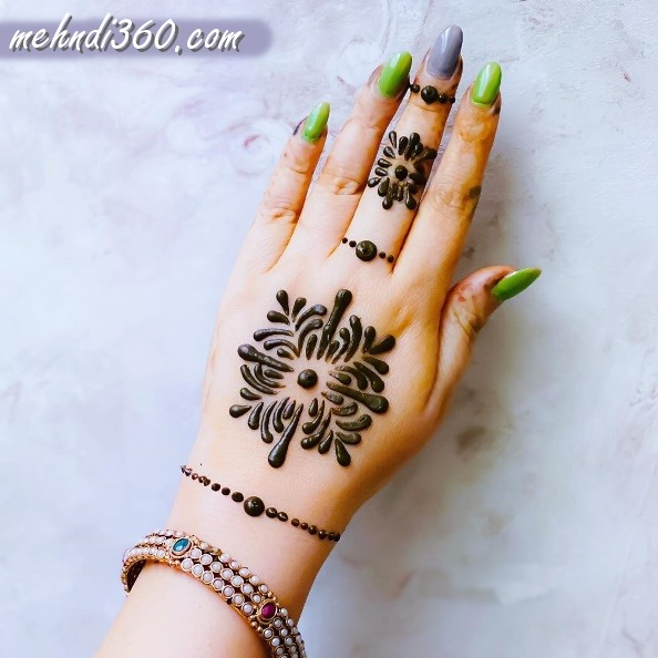 Back Hand Mehndi Designs for Kids