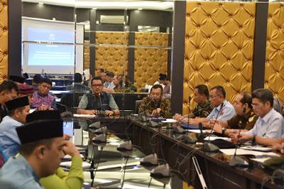 Rapat Koordinasi bersama sejumlah FKPD guna membahas tentang Isu Strategis menjelang Hari Raya Idul Fitri 1439