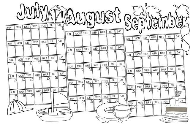 Photography Blography: 2013 Coloring Calendar for Kids