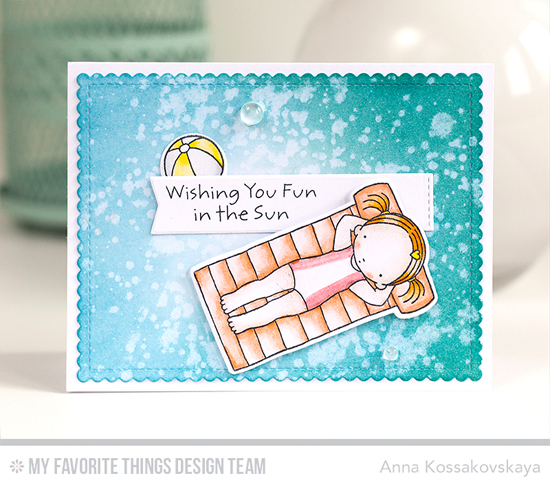Handmade card from Anna Kossakovskaya featuring Pure Innocence Fun in the Sun stamp set and Die-namics and Blueprints 27 Die-namics #mftstamps