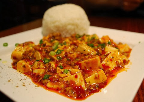 Sizzling Tofu with Sichuan Peppers and Boiled Rice