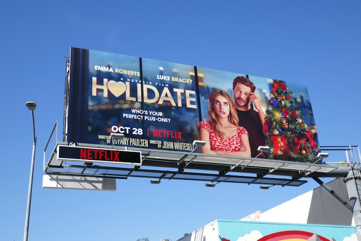Holidate movie billboard