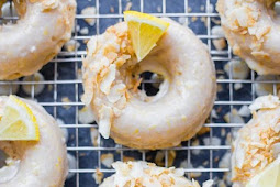 Baked Vegan Lemon Coconut Donuts