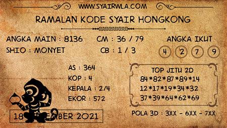 Ramalan HK Malam Ini 18-Sep-2021