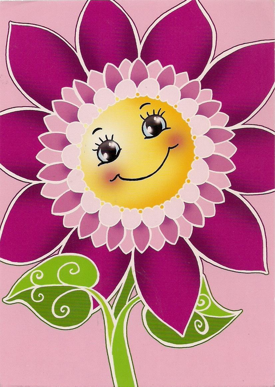 postcards2lufra: A Smiley Flower