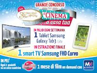 Logo Omaggio sicuro e vinci Smart Tv e Tablet Samsung Con Spuma il cinema a casa tua