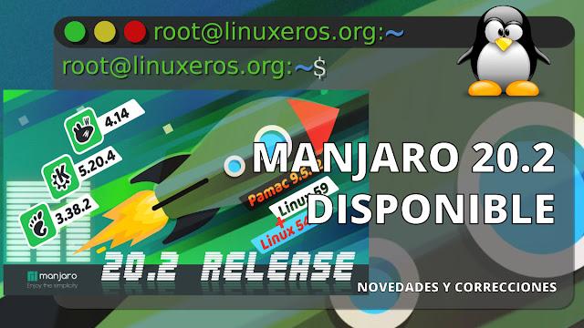Manjaro 20.2, con Linux 5.9, Gnome 3.38 y KDE Plasma 5.20