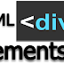 HTML Div Elements tag style contents section creation.