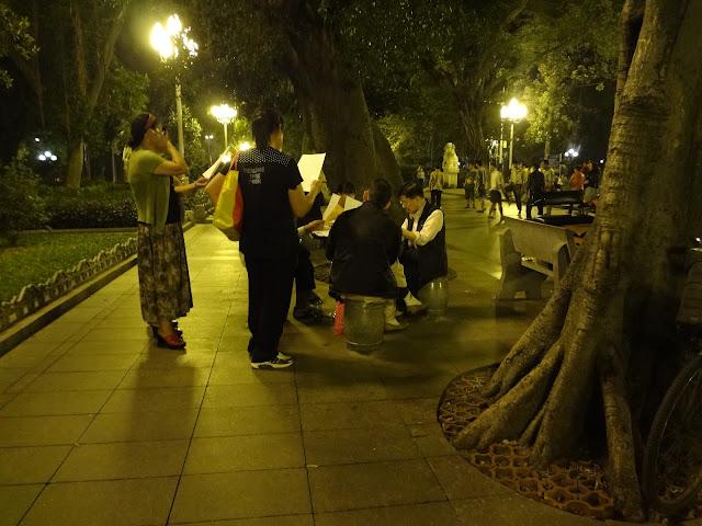 Ensayo de canto en el parque Renmin de Guangzhou