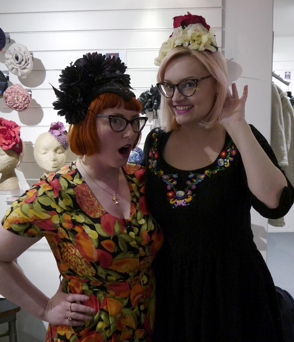 The Scottish Design Exchange, Edinburgh shopping, alternative shopping in Edinburgh, Ocean Terminal, fashion, Scottish fashion blogger, Headpieces, #SDXLoft, Kitsch Me Vintage