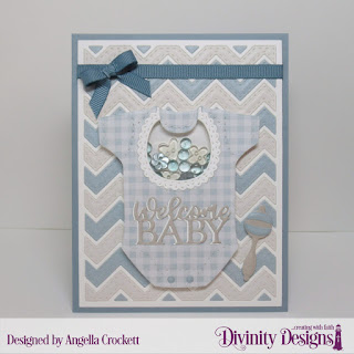 Divinity Designs Custom Dies: Baby Blessings, Chevron Background, Paper Collection: Baby Boy