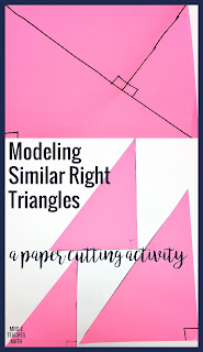 a discovery activity to help high school geometry students visualize similar right triangles