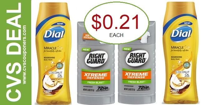 Dial Body Wash & Right Guard CVS Deal 4-12-4-18