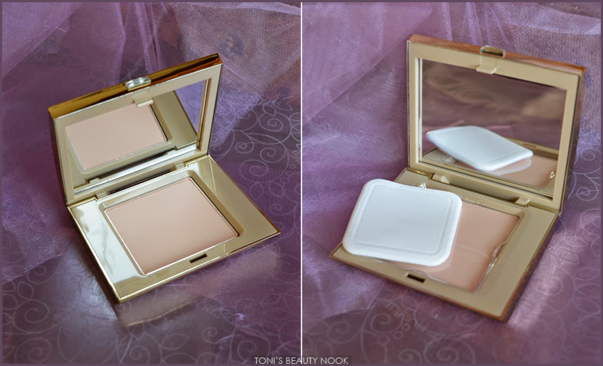 avon luxe pressed powder fair silk
