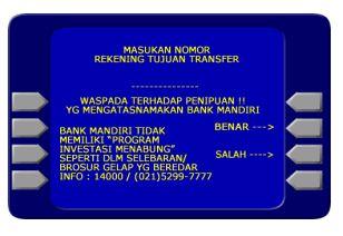 Cara Transfer Uang Melalui BANK ATM Bersama Mandiri Menggunakan KODE BANK