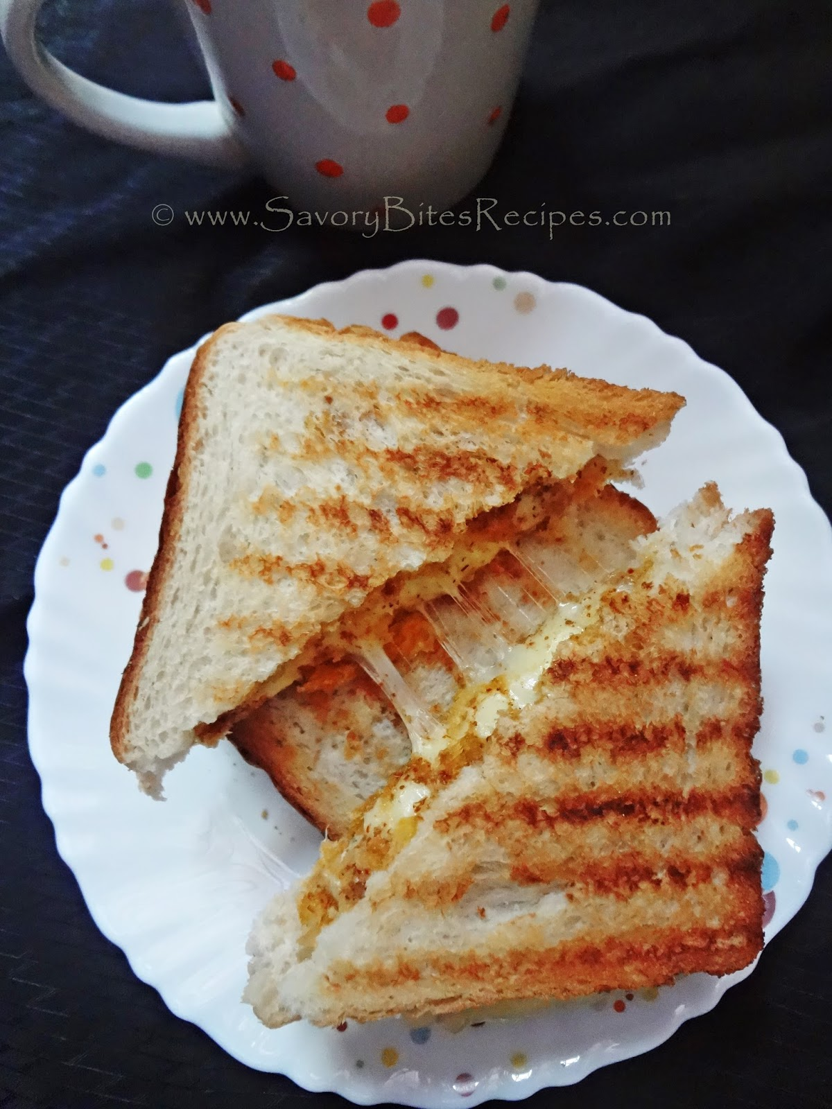 Grilled Cheese Sandwich - Savory Bites Recipes