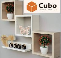 Logo Cubo Zidne Police : vinci gratis set di scaffali da parete