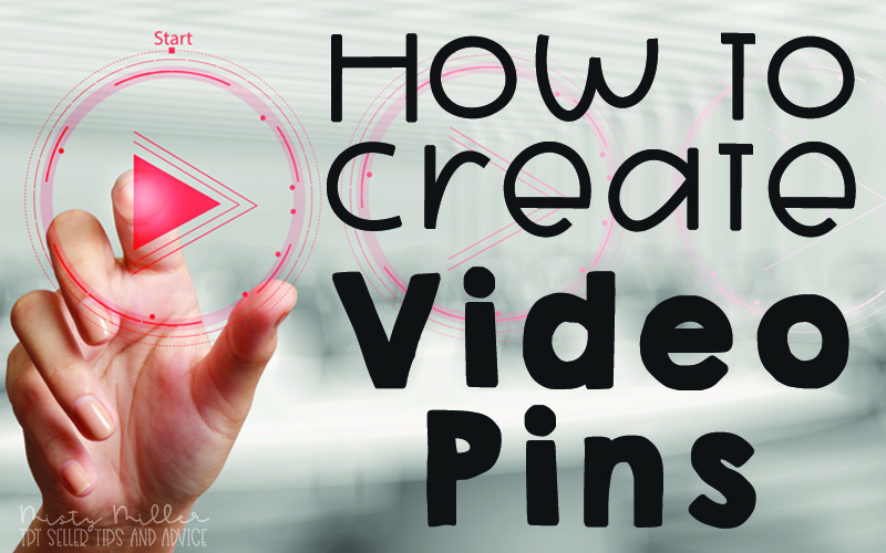 Hand pushing play button with title: How to Make a Video Pin for Pinterest