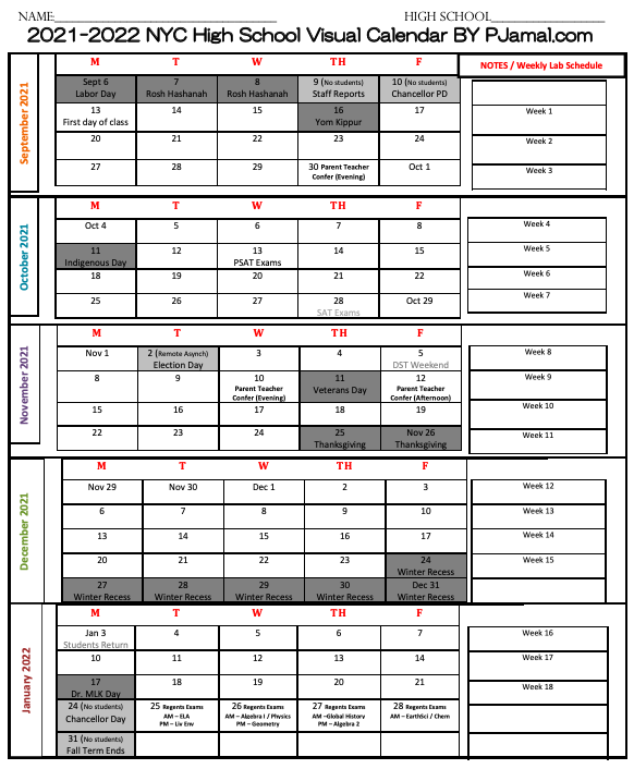 Planner.PJamal.com #BackToSchool SY2021-2022 Visual Planner from TpT