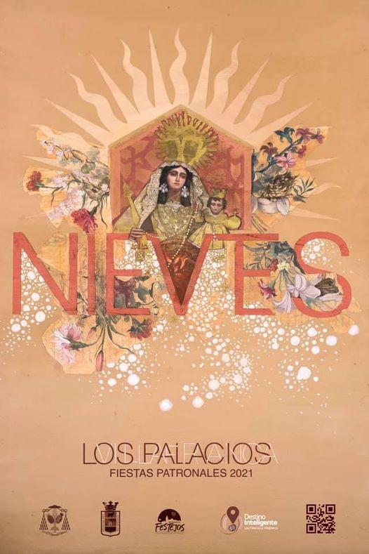 Cartel de las Fiestas Patronales de la Virgen de las Nieves 2021 de Los Palacios y Villafranca