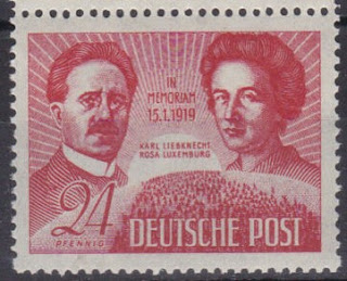 the death of Karl Liebknecht and Rosa Luxemburg DDR