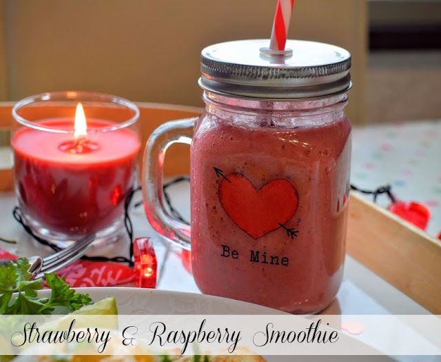 Strawberry and Raspberry Valentine's Smoothie