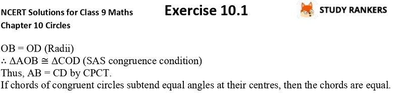 NCERT Solutions for Class 9 Maths Chapter 10 Circles Exercise 10.2 Part 2