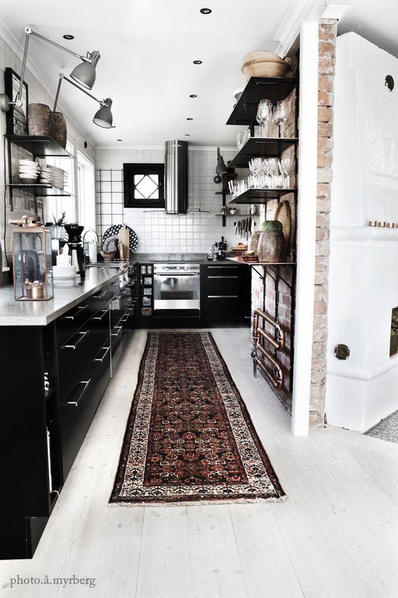 Inspiracion: Cocinas de color negro