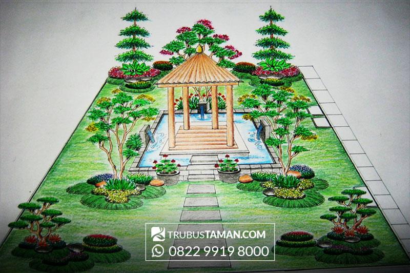 Galery Desain Sketsa  Jasa Tukang Taman  jakarta