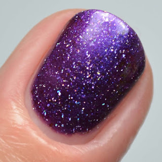 purple multichrome nail polish